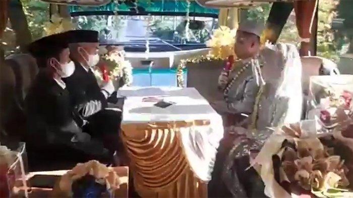 Video Acara Resepsi Pernikahan di Dalam Bus Berjalan Viral di Medsos, Ini Tanggapan Pengantin