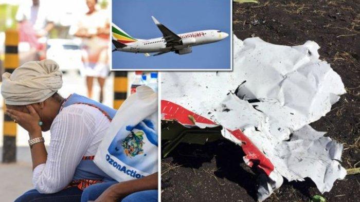 Pesawat Ethiopian Airlines rute Addis Ababa-Nairobi jatuh tak lama setelah lepas landas dari Bandara Bole, Addis Ababa, Etiopia, Minggu (10/3/2019).