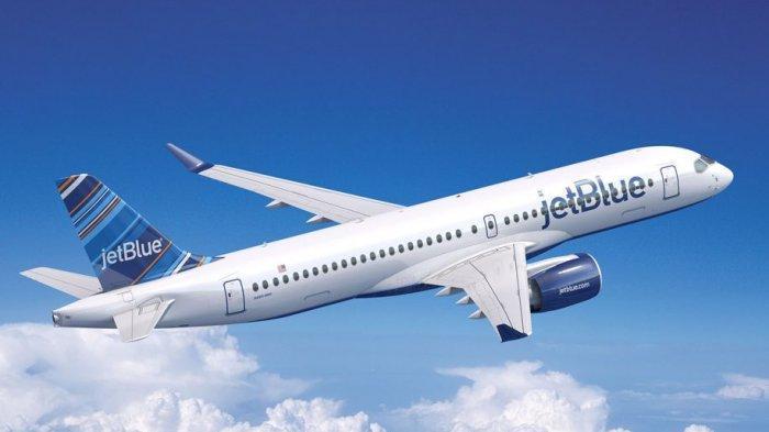 Ilustrasi pesawat JetBlue.