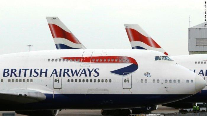 Pesawat milik maskapai British Airways