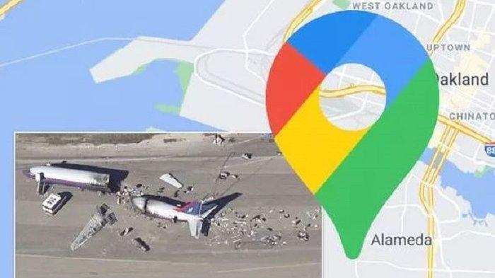 Terekam Google Maps, Pesawat Ini Ditemukan Hancur Lebur di Landasan Pacu