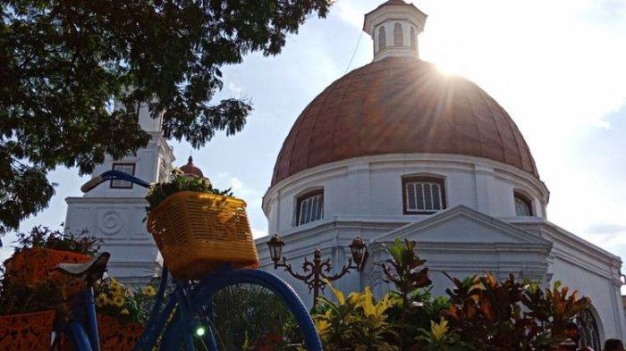 Liburan ke Kota Lama Semarang, Berfoto Ala Noni Belanda di Taman Srigunting Bikin Wisman Betah