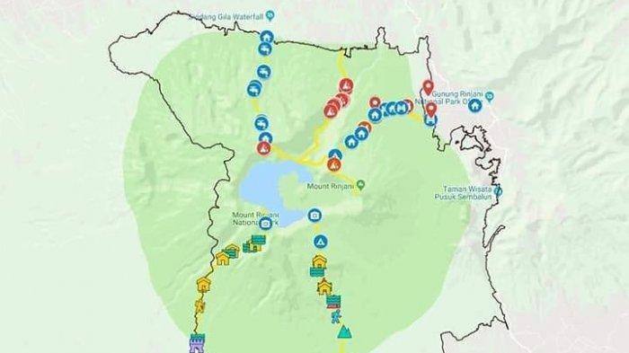 Peta Jalur Pendakian Gunung Rinjani, Penting Disimak Sebelum Mendaki