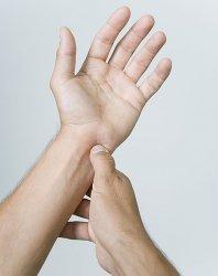 Pijatan 3 jari dibawah pergelangan tangan