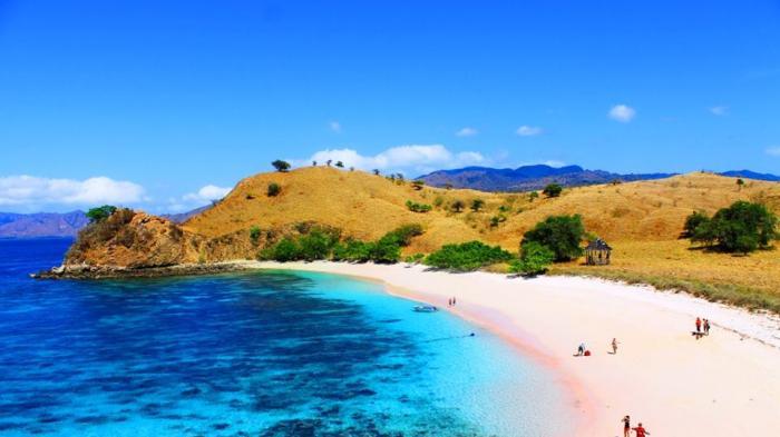 Mengenal Pantai Berpasir Merah Muda 'Pink Beach' di Timur Indonesia, Rasanya Seperti Milik Pribadi