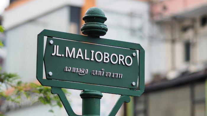 Ilustrasi plang Jalan Malioboro di Jogja