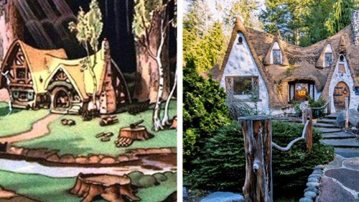 6 Rumah Ini Dibuat Mirip Rumah yang Terdapat dalam Film Kartun, Ada Pondok Snow White