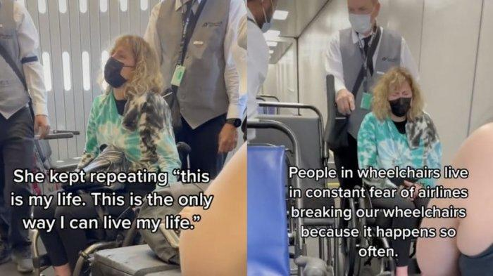 Viral di TikTok, Penumpang Wanita Mengklaim Kursi Rodanya Dipatahkan Kru Pesawat