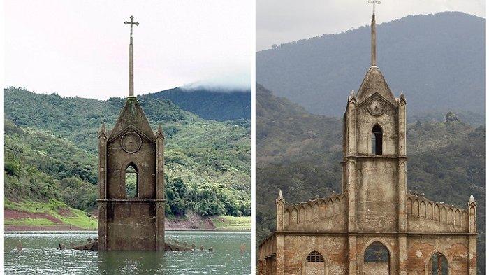 Puluhan Tahun Tenggelam dalam Air, 6 Bangunan Megah Ini Kembali Muncul Akibat Faktor Alam