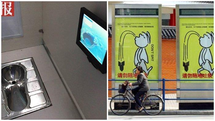 13 Kebiasaan Unik Warga China yang Buat Turis Heran, Ada TV di Toilet dan Lantainya Selalu Basah
