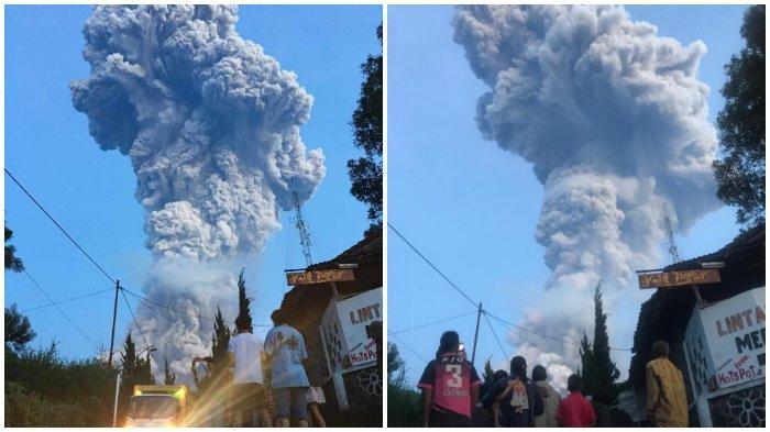 Foto-foto Erupsi Gunung Merapi, Kolom Semburan Abu Vulkanik Lebih Besar dari Sebelumnya