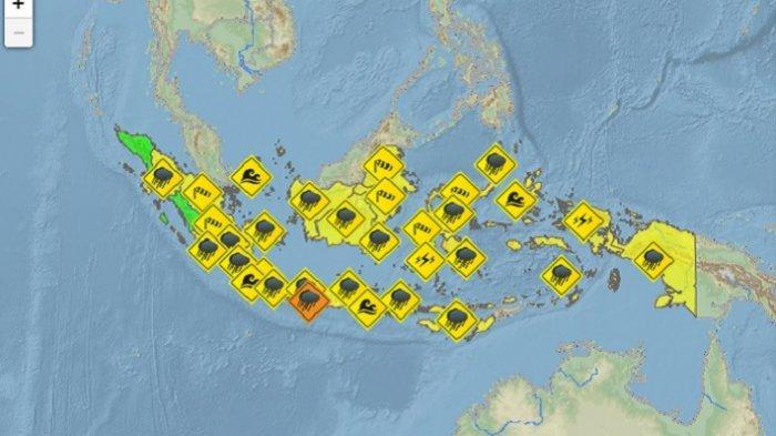 Update Info Prakiraan Cuaca 33 Kota di Indonesia Kamis, 22 Mei 2019