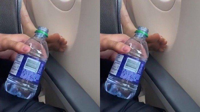 Viral di TikTok, Pria Ini Guyur Kaki Penumpang di Belakangnya Pakai Air