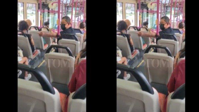 Ada Pasangan Muda Pelukan Dalam Bus, Pria Tua Ini Marah & Minta Sopir Bus Panggil Polisi