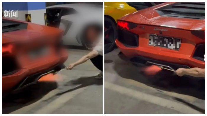 Viral Video Pria Gunakan Knalpot Lamborghini untuk Memanggang Daging Termahal di Dunia