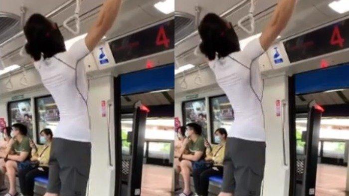 Heboh Video Pria Gelantungan di MRT, Warganet: Tidak Ada yang Berani Menghentikannya