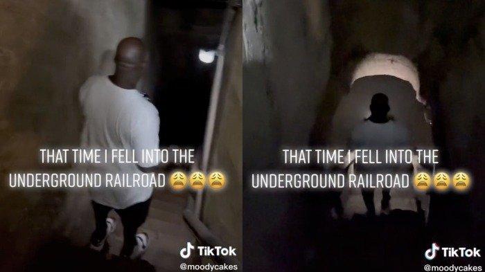 Viral Video, Seorang Pria Temukan Rel Kereta Api yang Ditinggalkan di Ruang Bawah Tanah