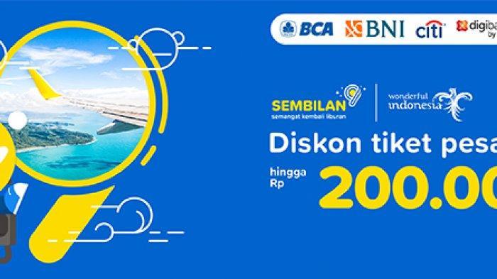 Promo 9.9 Tiket.com, Diskon hingga Rp 200 Ribu untuk Pesawat Domestik
