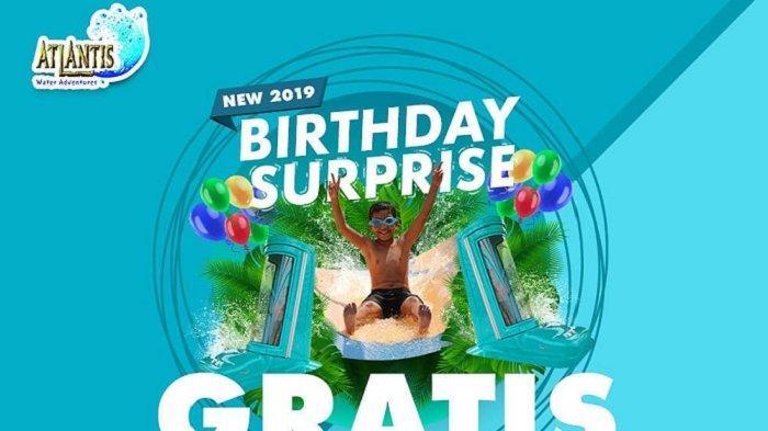 Cukup Bawa Kartu Identitas, Ada Tiket Gratis Atlantis Bagi yang Berulang Tahun pada April 2019