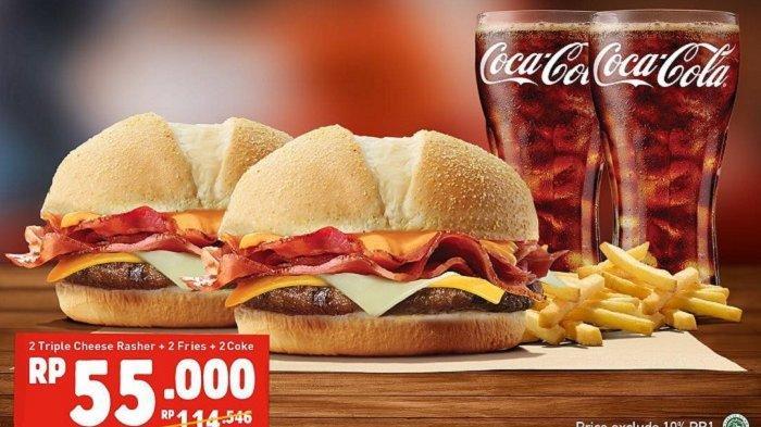 Promo Burger King April 2019 - Dapatkan Promo Spesial Double Deal Diskon 50%, Cek Ketentuannya