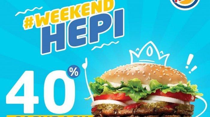 Promo Burger King - Dapatkan Cashback 40 Persen Bayar Pakai GO-PAY Lewat Promo #WeekendHEPI