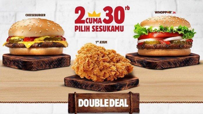 Promo Burger King - Nikmati Paket Dobel Deal Mulai dari Rp 30 Ribu, Berlaku hingga Akhir April