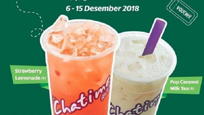 Promo Chatime Desember 2018 - Beli 1 Gratis 1 Pakai GrabFood, Berlaku untuk Semua Varian Minuman