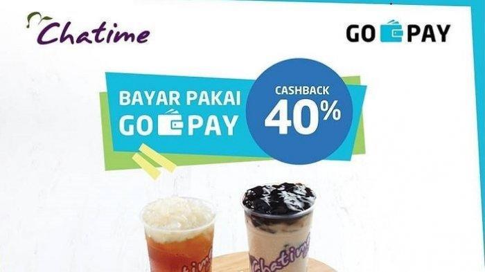 Promo Chatime Maret 2019, Dapat Cashback 40 % Khusus Bayar Pakai GoPay