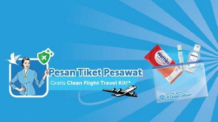 Pesan Tiket Pesawat di Traveloka, Dapatkan Gratis Clean Flight Travel Kit