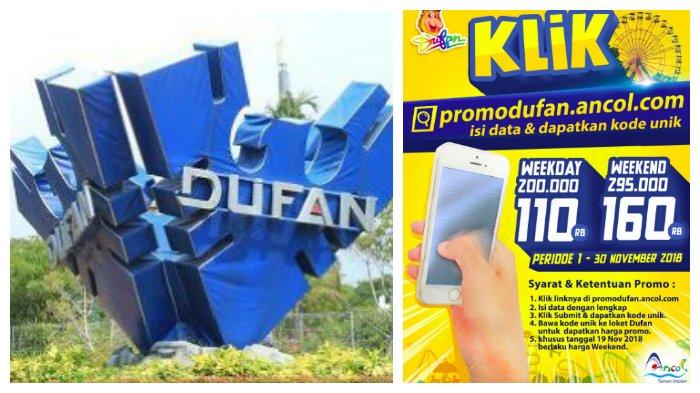 Dufan Promo Harga Tiket Masuk dengan KODE UNIK via Registrasi Online