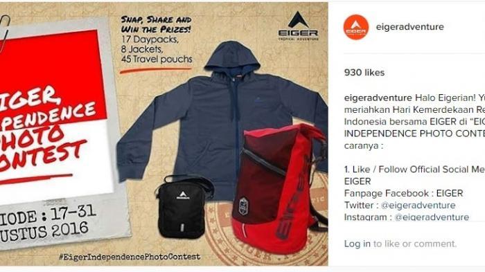 Eiger Independence Photo Contest - Inilah Cara Cepat Dapat Perlengkapan Traveling yang Branded