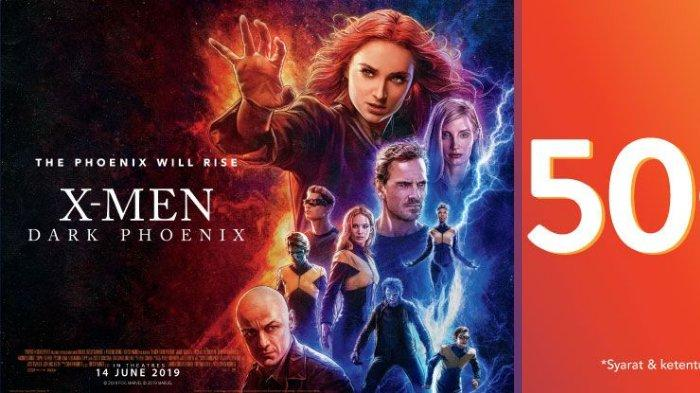 Promo Akhir Pekan - Potongan 50 Persen Tiket Pertama Film X-Men: Dark Phoenix
