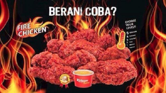 Promo Richeese Factory -  Combo Fire Chicken Cuma Rp 22 Ribuan Mulai Hari Ini, Cek Ketentuannya Yuk