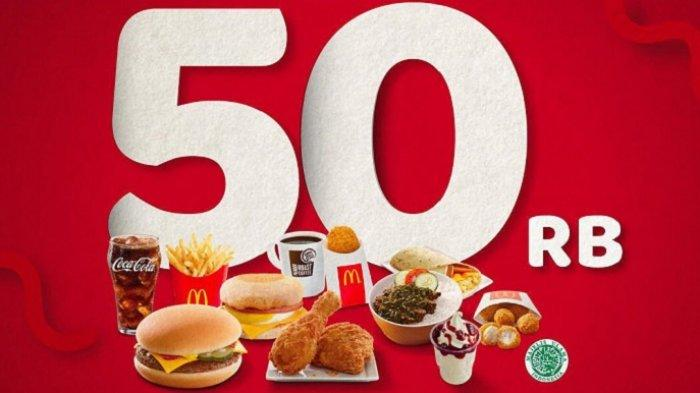 Promo McDonalds - Cashback Rp 50 Ribu Bayar Pakai T-Cash, Lihat Syarat dan Ketentuannya