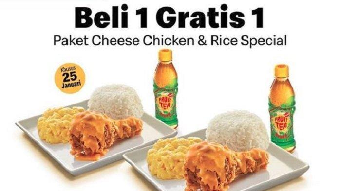 Promo McD Januari 2019, Beli 1 Gratis 1 Paket Cheese Chicken & Rice Khusus 25 Januari 2019