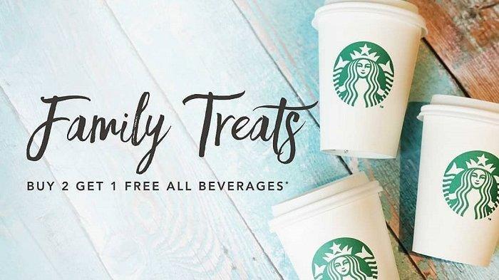 Promo Starbucks - Khusus Hari Ini Buy 2 Get 1 Free Family Treats, Simak Cara Mendapatkanya