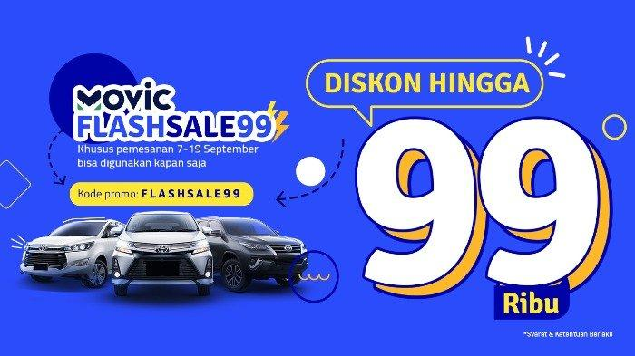 MOVIC Flash Sale! Sewa Mobil Diskon 45%, Begini Cara Mendapatkannya