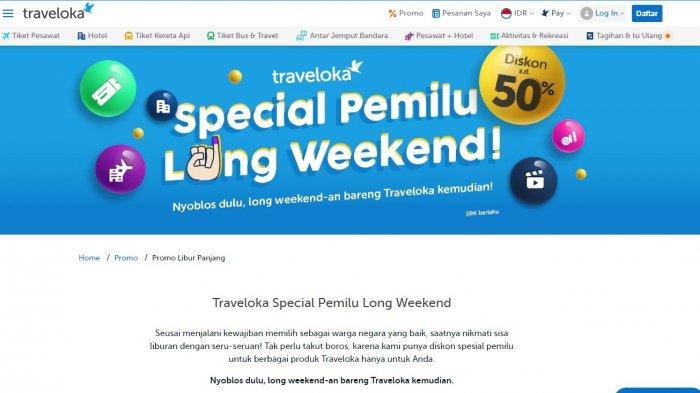 Promo Traveloka Spesial Pemilu, Nyoblos Bisa Langsung Dapat Diskon Tiket Pesawat dan Hotel