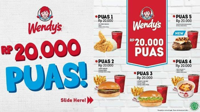 Promo Wendy's Januari 2019, Paket Puas Rp 20 Ribu Bikin Akhir Bulanmu Tetap Makan Enak
