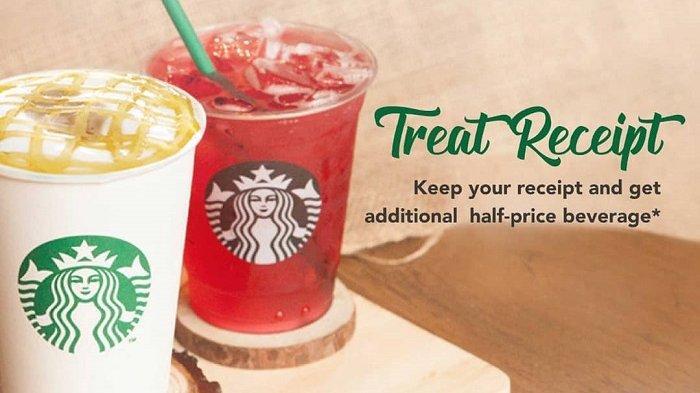 Promo Starbucks Hari Ini - Semua Varian Starbucks Diskon 50 Persen, Cek Cara Mendapatkannya