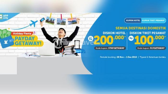 Promo Traveloka Potongan Harga Gila Gilaan Tiket Pesawat Dan Hotel Hingga Rp 300 Ribu Ini Caranya Tribun Travel