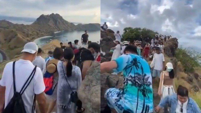Pulau Padar Dipenuhi Wisatawan Berjubel Tanpa Jaga Jarak, Ramainya Seperti di Pasar