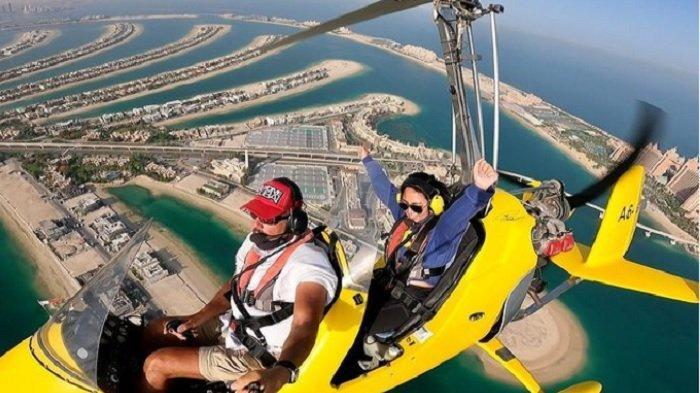 Serunya Liburan Rachel Vennya di Dubai, Dinner In The Sky hingga Naik Gyrocopter