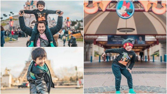 Liburan Artis - Raffi Ahmad Nikmati Momen Liburan Akhir Pekan Bareng Rafathar ke Disneyland Paris