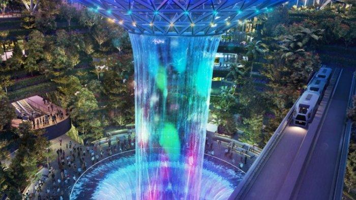 10 Bandara Antimainstream di Dunia, Changi Airport Punya Air Terjun Dalam Ruangan