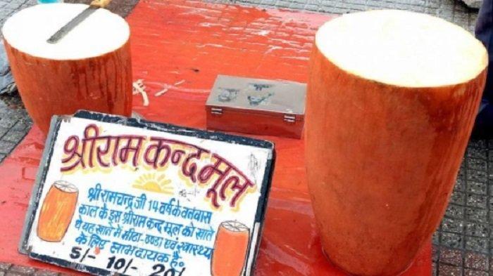 Ram kand mool, umbi raksasa yang diolah jadi camilan lezat di India