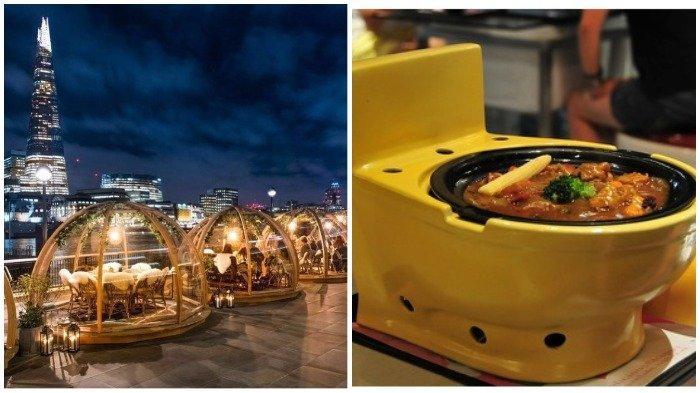 9 Restoran Paling Aneh di Dunia, Restoran At Mosphere Tawarkan Sensasi Makan di Atas Langit
