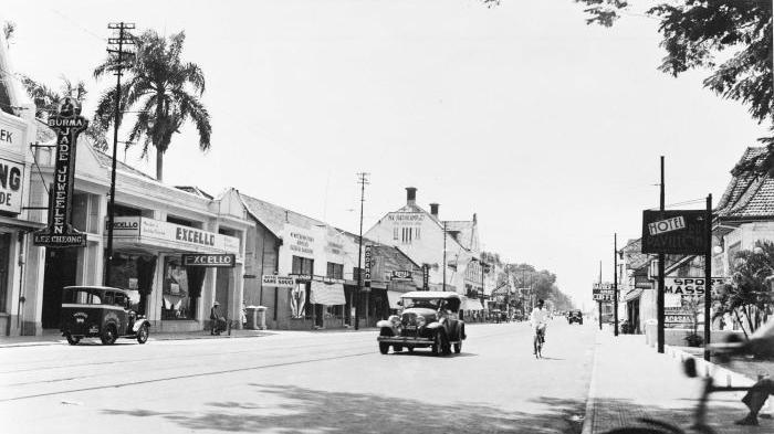 Rijswijkstraat di Batavia yang sekarang menjadi Jalan Veteran Jakarta (Koleksi Tropen Museum)