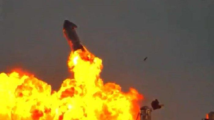 Roket Prototipe SpaceX Meledak Setelah Sukses Melakukan Pendaratan di Texas
