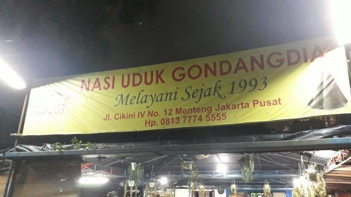 Rumah makan nasi uduk Gondangdia sejak 1993 di Jalan Cikini IV Nomor 12, Menteng, Jakarta Pusat pada Senin (22/6/2020)